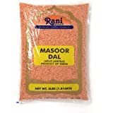 Rani Masoor Dal (Indian Red Lentils) Split Gram 4lb (64oz) ~ All Natural   Gluten Friendly   NON-GMO   Vegan   Indian Origin