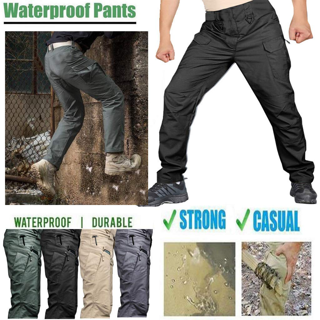 HOSOME Outdoor Pants Men Scratch-Proof Waterproof Pants for Outdoor Camping Climbing