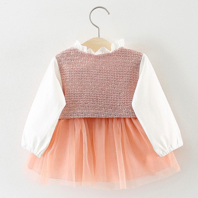 Newborn Toddler Kids Girls Plaid Button Long Sleeve Party Princess Dresses Clothes Pollyhb Baby Girls Dress