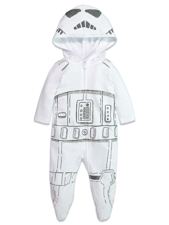 Star Wars Baby Boys Costume Zip-Up Footies with Hood
