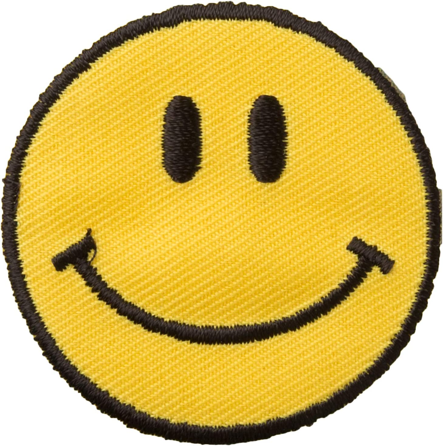 Wrights 196 720-9001  Iron-On Applique-Yellow Happy Face