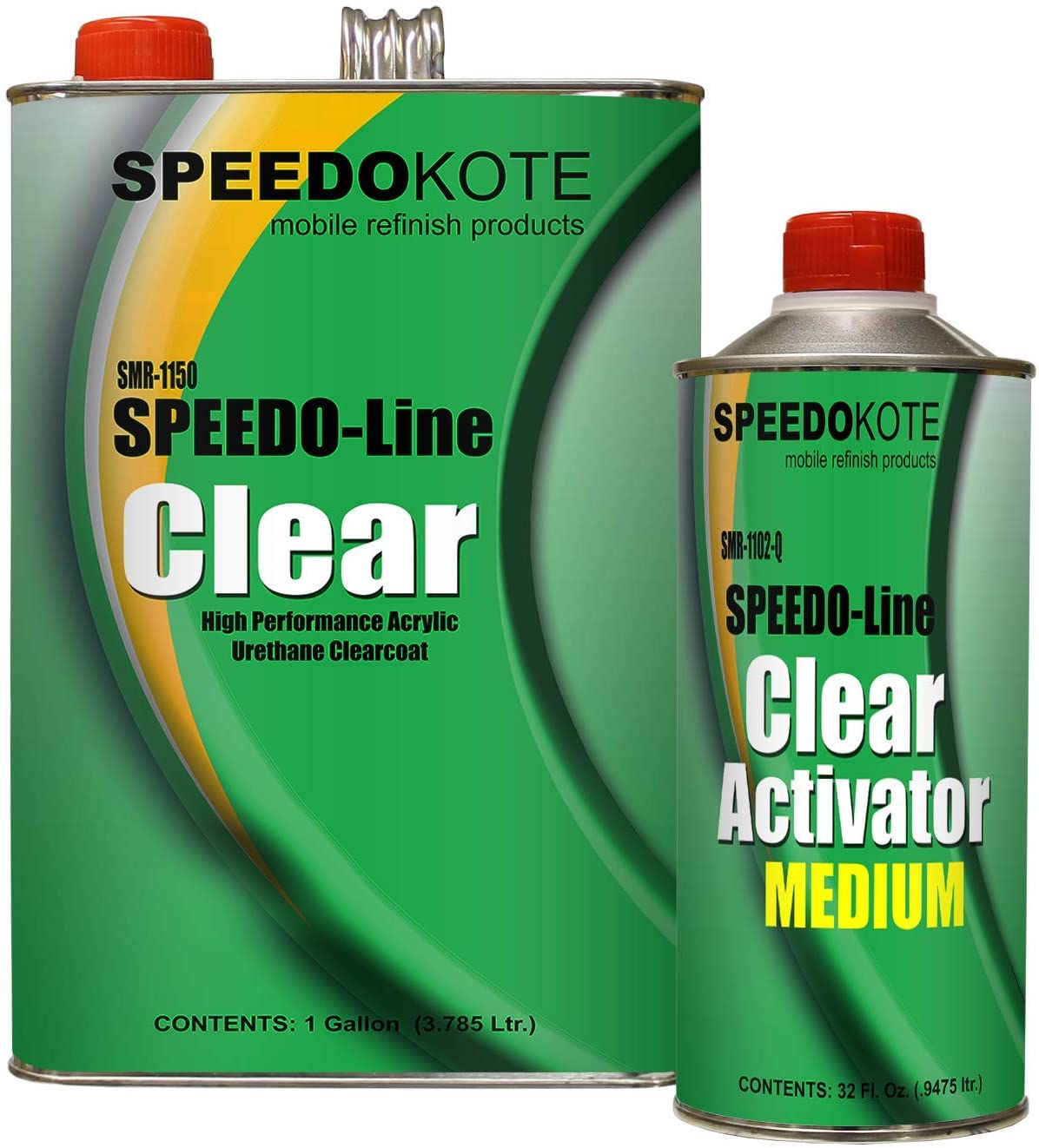 B00SX5537Y Speedokote Clear Coat 2K Acrylic Urethane, SMR-1150/1102-Q 4:1 Gallon Clearcoat Medium Kit 71ER3g-HM4L