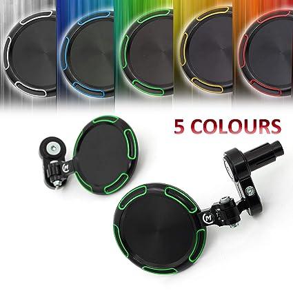 Amazoncom Green Folding Cnc Bar End Mirrors Kit For
