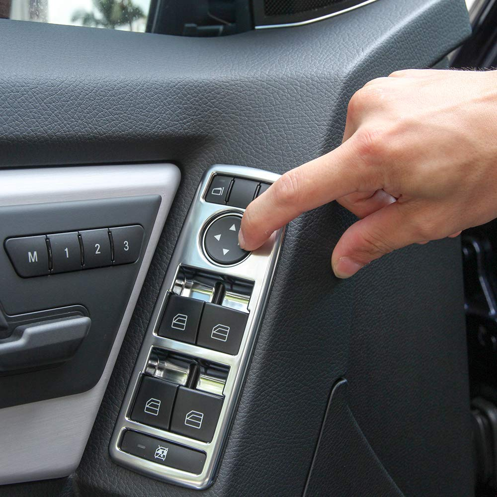 TongSheng ABS Chrome Window Lift Switch Button Cover Trim Accessories for Mercedes Benz A//B//C//E//GLE//GLA//CLA//GLK//ML W212 W204