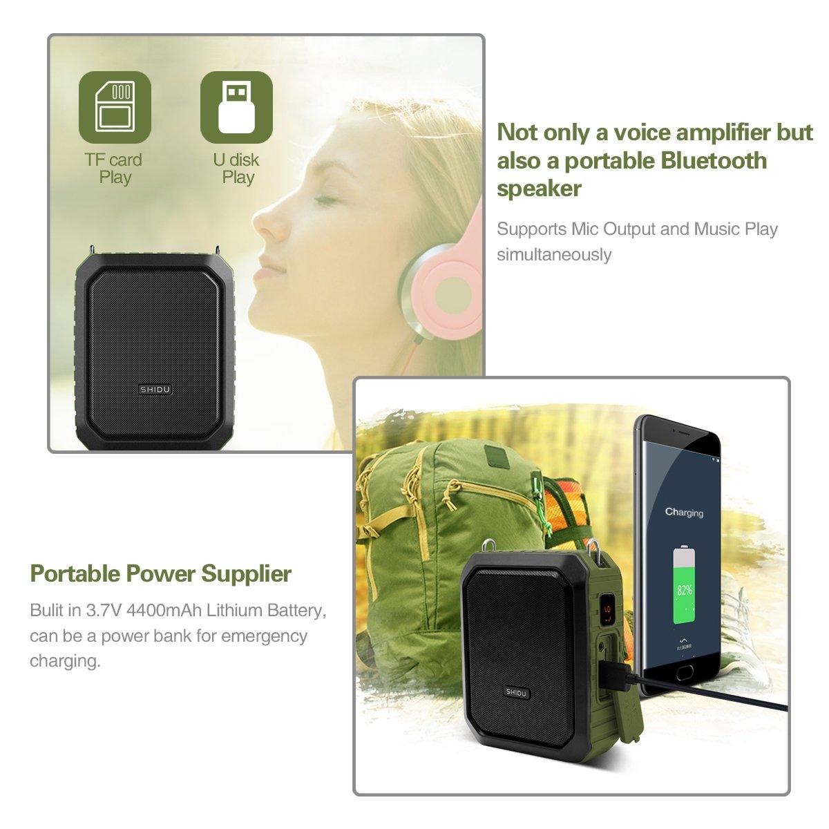 Neue Drahtlose Lehr Mikrofon Stimme Verstärker Lautsprecher Tragbare Hifi Megaphon Lautsprecher Für Tour Guide Externe Sprach Tf Fm Unterhaltungselektronik Tragbares Audio & Video