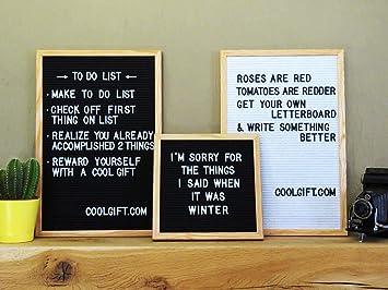 CoolGift - Pizarra con Letras (Marco de Madera), 45 x 30 cm ...
