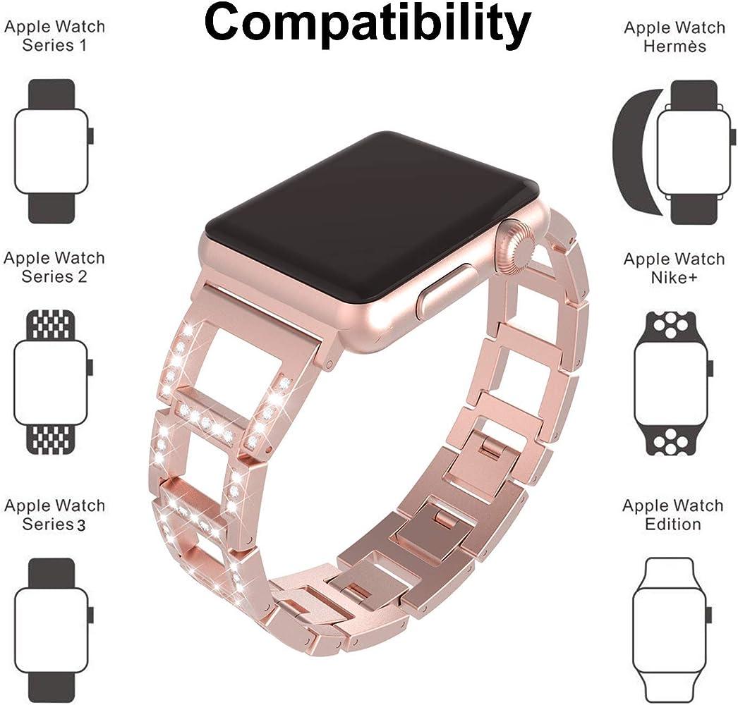 para Correa Apple Watch 42mm para Mujer, Bandas para Iwatch Ajustables y Modernas de ITSHINY, Accesorios de Repuesto de Pulsera metálicas Deportivas para Iwatch Series 3 2 1, Nike+ (42mm / 44mm