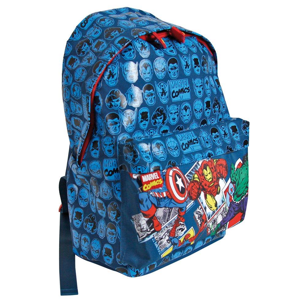 Perletti 38x26x16 cm Captain America et Iron Man Sac /à Dos gar/çon Marvel Comics Spiderman Sac /à Dos pour l/école /él/émentaire avec bandouli/ères r/églables et Impression Hulk
