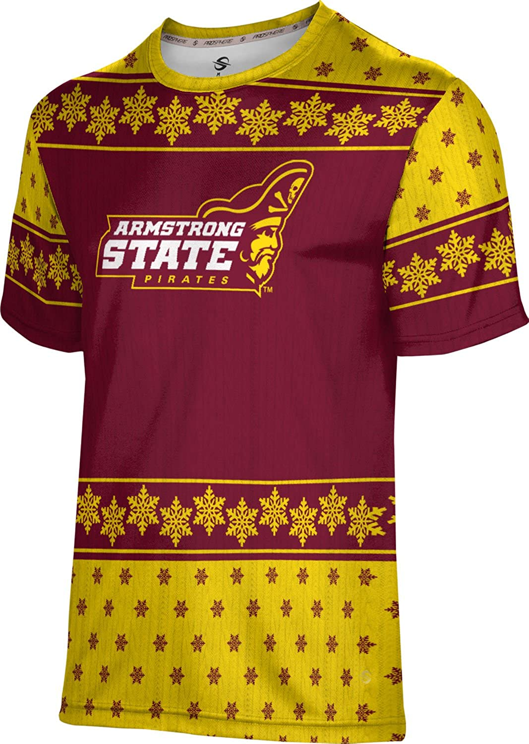 Armstrong State University Ugly Holiday Mens Performance T-Shirt Snowflake