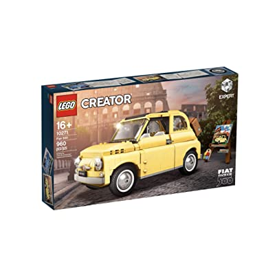 LEGO Creator Expert Fiat 500 Model car (10271). A True icon of Classic Automotive Design: Toys & Games