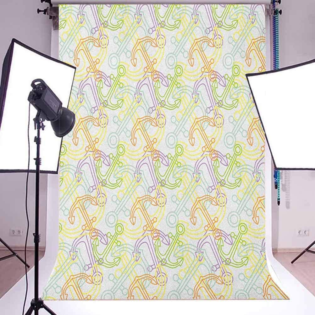 7x10 FT Tea Party Vinyl Photography Background Backdrops,Colorful Abstract Motifs Birds Bunnies Pretzel Sugar Cubes and Flowers Pattern Background for Selfie Birthday Party Pictures Photo Booth Shoot