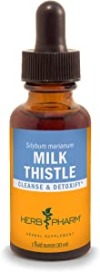 Herb Pharm Milk Thistle Seed Liquid Extract for Liver Function Support - 1 Ounce