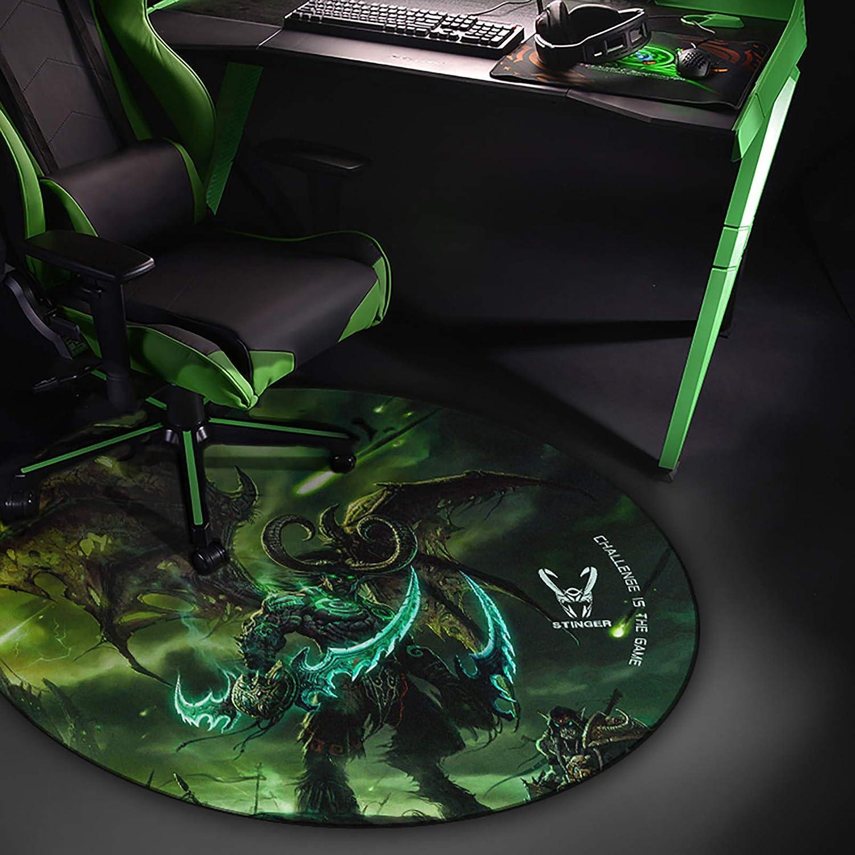 Woxter Stinger Floorpad Green - Alfombrilla Gaming de Suelo, Tapete Protector para Suelo - Resistente al Agua, Lavable, 100% Microfibra, Diámetro 120 ...