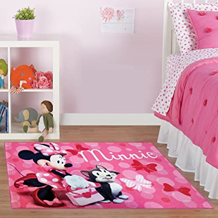 Amazon.com: Disney Minnie Mouse Rug w/ Figaro Cat HD Digital Girls ...