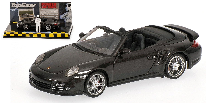 Porsche 911 Turbo Descapotable (997 II), met.-oscuro-gris con figura , 2009, Modelo de Auto, modello completo, Minichamps 1:43: Amazon.es: Juguetes y juegos
