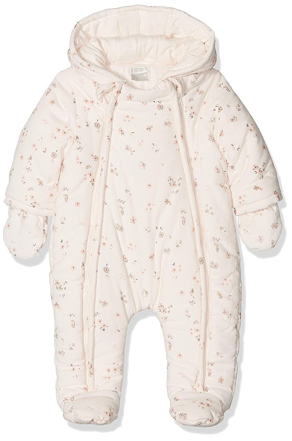 Mamas & Papas Baby Girls' Floral Print Pramsuit Snowsuit Mamas and Papas
