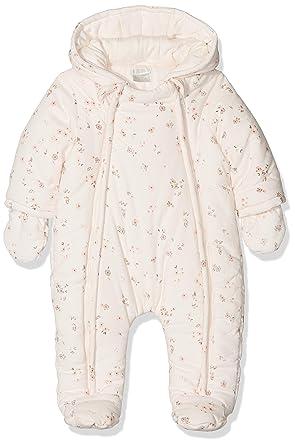 51e7d8a09 Mamas & Papas Baby Girls' Floral Print Pramsuit Snowsuit: Amazon.co.uk:  Clothing
