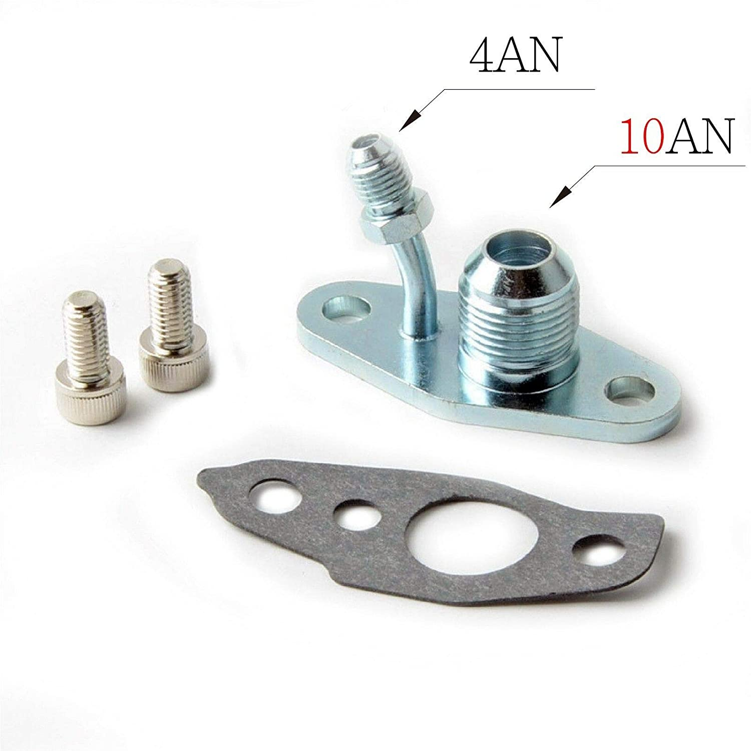 Smartturbo Oil Feed 4AN /& Oil Drain 10AN Flange is compatible with TOYOTA CT9 CT12 CT20 CT26 Turbos