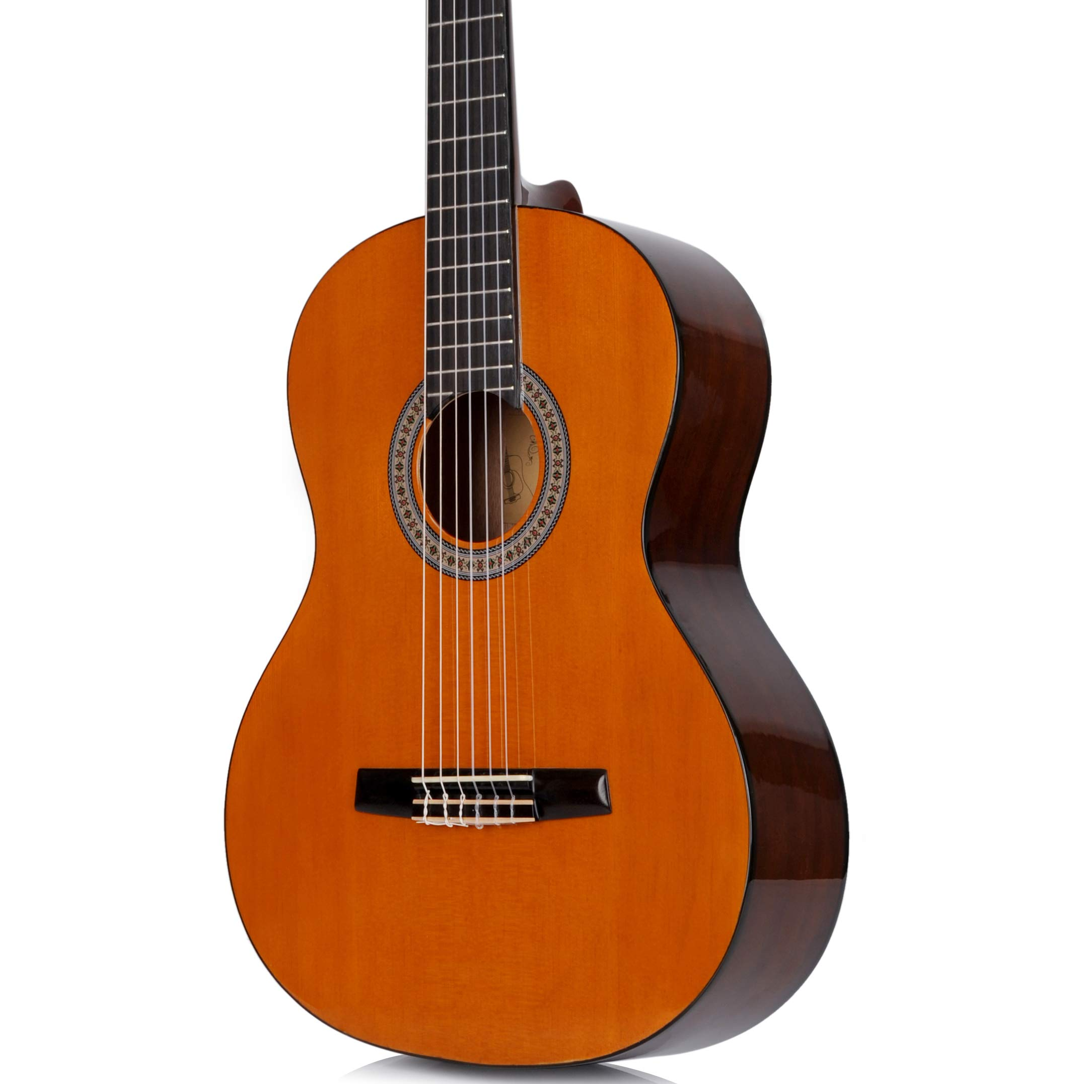 Classical Guitar WINZZ 39 Inches Full Size Nylon String Student Kids Acoustic Guitar with Bag, Tuner, Stand, Capo