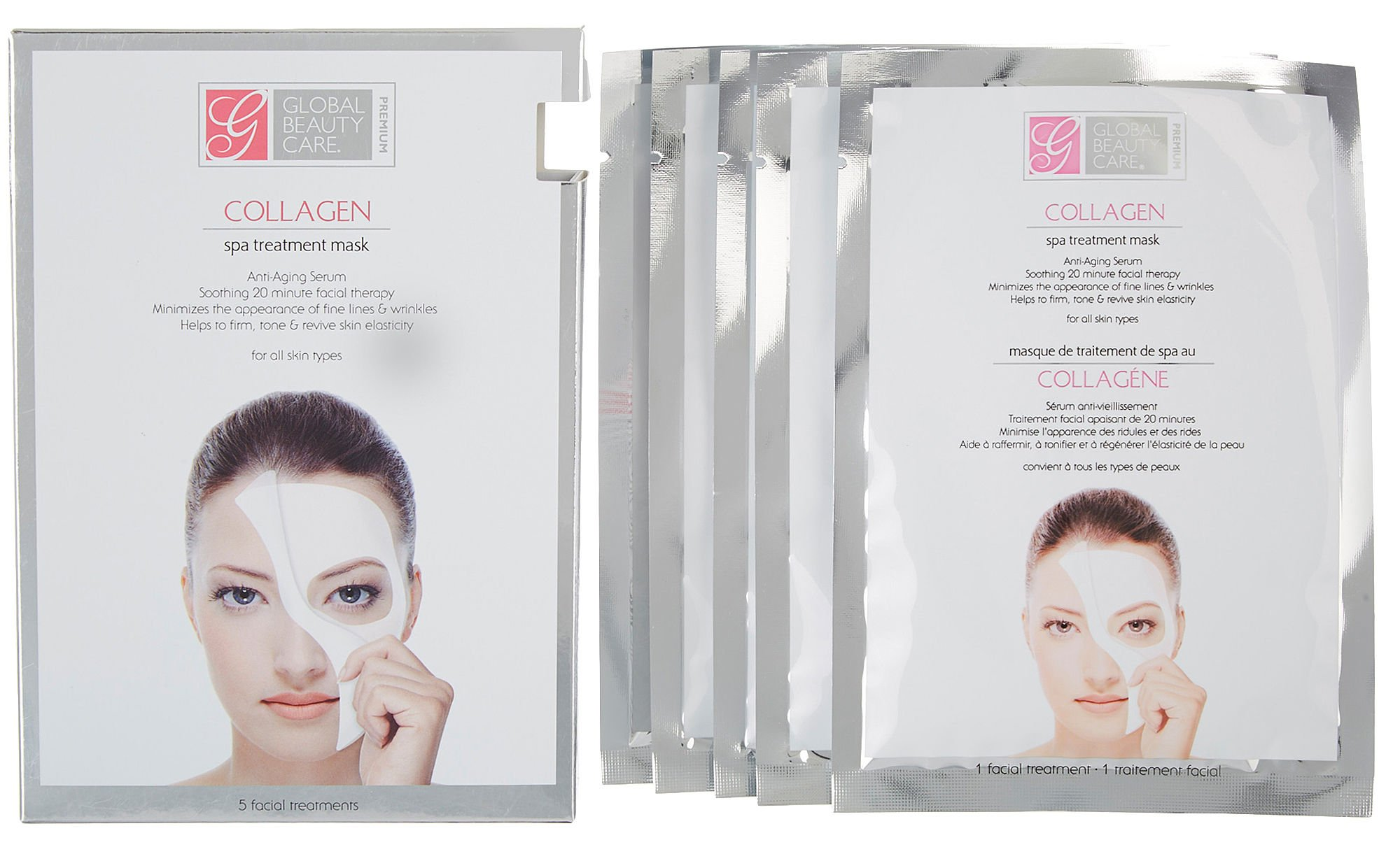 Look Beauty Wrinkle Reducing Sheet Mask - 3 Complete Mask Sets - Beauty Care La Mer - The Brilliance Brightening Essence -30ml/1oz