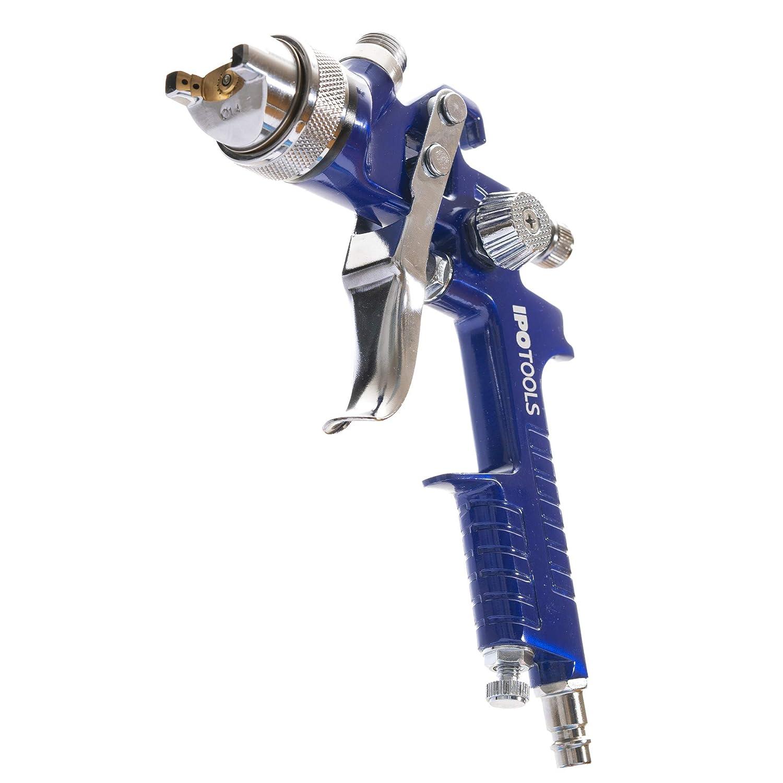 Syst/ème pistolet a peinture professionnel avec gobelet en plastique de 600 ml et buse en inox de 1,4 mm Pistolet /à Peinture HVLP H-827P IPOTOOLS