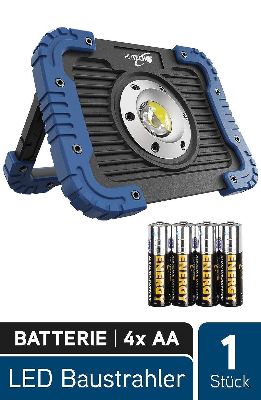 Lampe datelier avec 450 lumens fonctionnant sur batterie HEITECH Projecteur de chantier /à LED 5W COB LED r/ésistant aux chocs Projecteur de travail /à LED