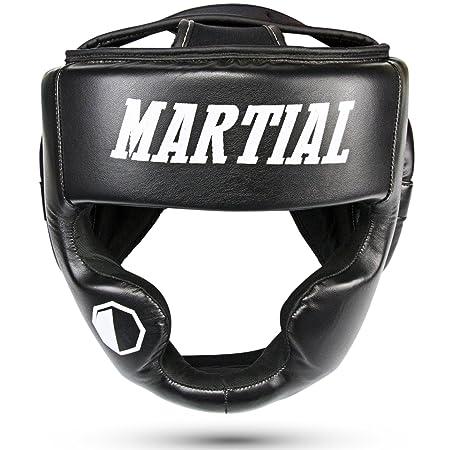 MARTIAL Kopfschutz mit hoher Schlagdämpfung! Gesichtsschutz mit perfekter Sicht und geringer Schweißentwicklung. Boxhelm für