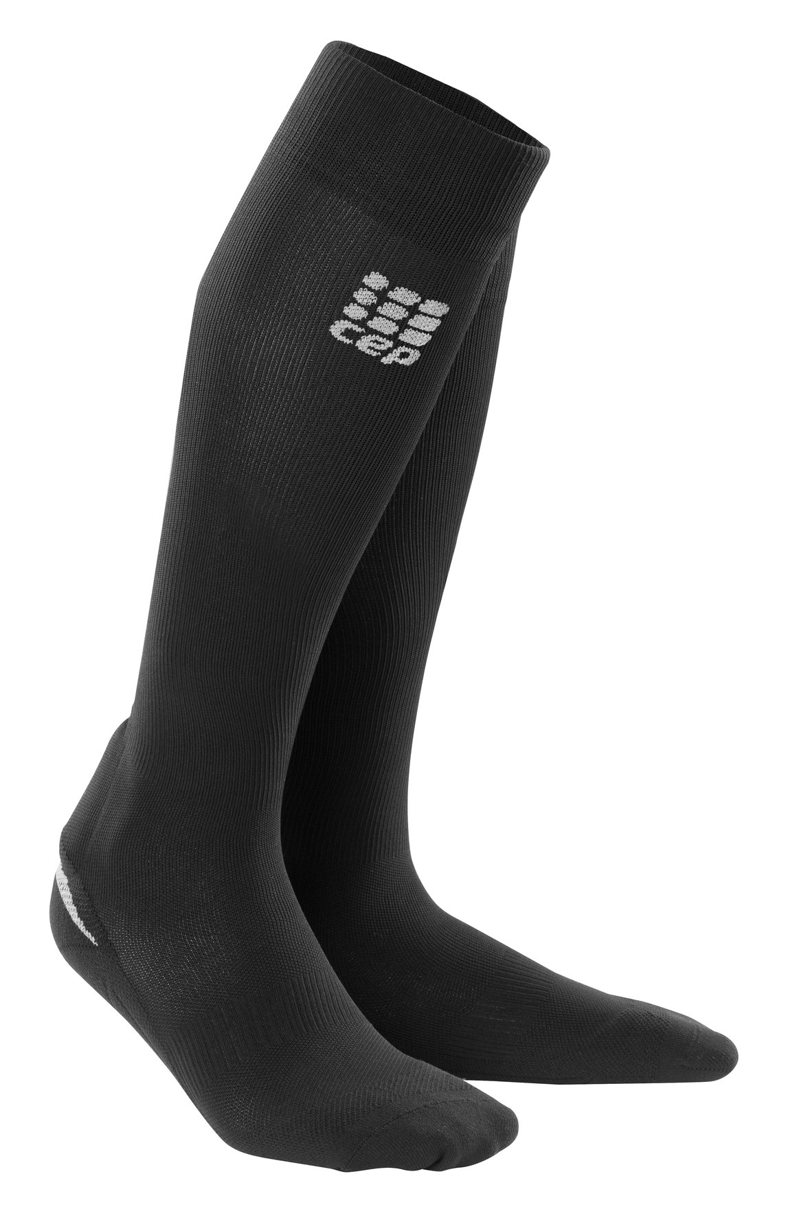 CEP Women's Compression Full Achilles Support Socks, Black, Size III