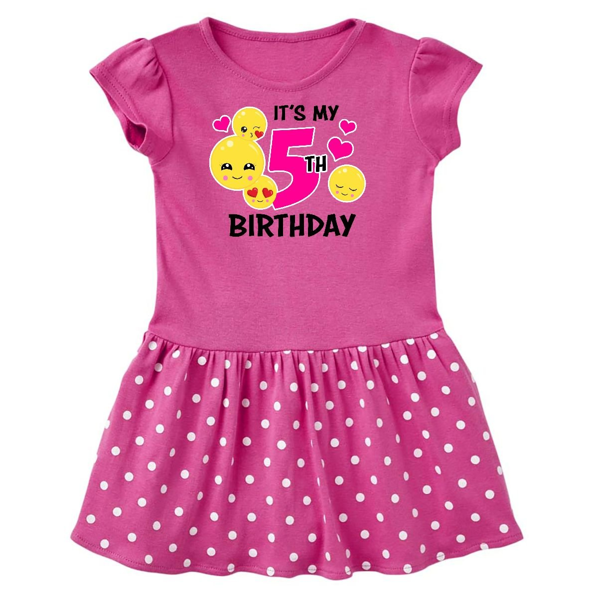 inktastic - Its My 5th Birthday Emojis Toddler Dress 14-196261-198