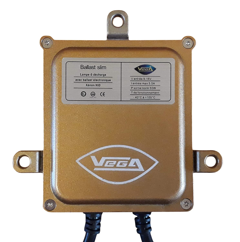 Kit HID Xen/ón Marque Francaise Vega/® H7/C 55/W slim DSP AC bombillas de base nivelante met/álico