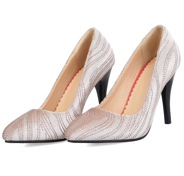 Charmstep Frauen Spitze Stiletto Heels High Crystal Dress Dress Dress Pumps Hochzeitsschuhe CX170 3013ac