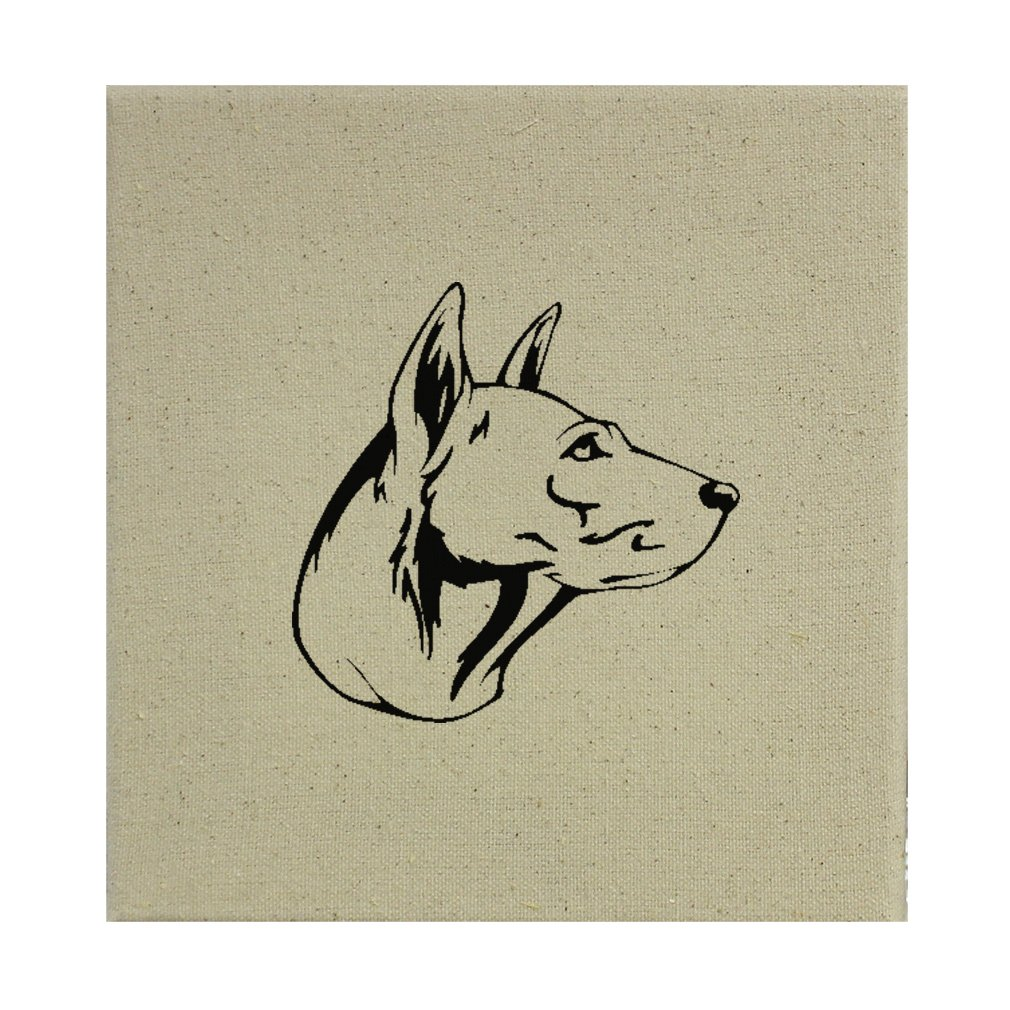 Style in Print Stretched Natural Canvas Thai Ridgeback Head Black By 8''X8'' by Style in Print