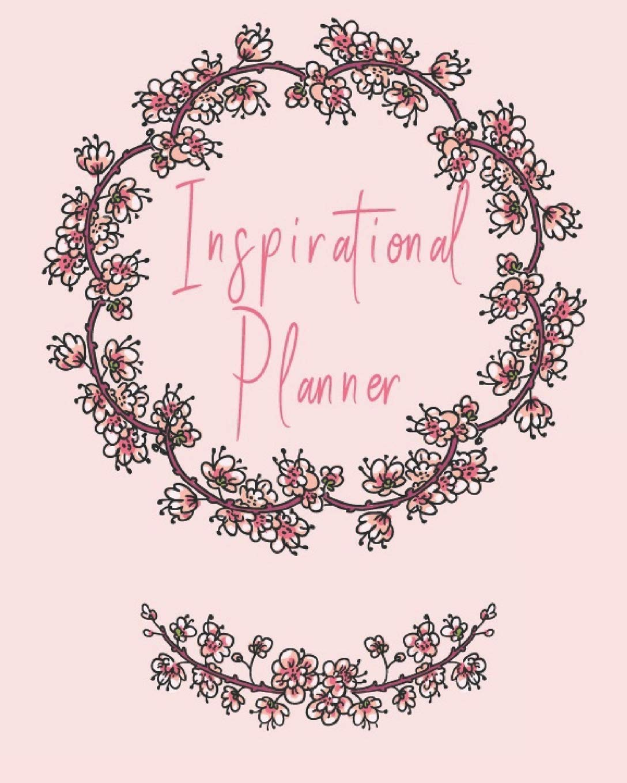 buy inspirational planner beautiful sakura floral nature