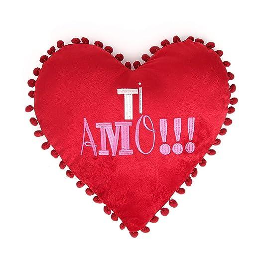 Cojín Corazón con Mensaje: Amazon.es: Hogar