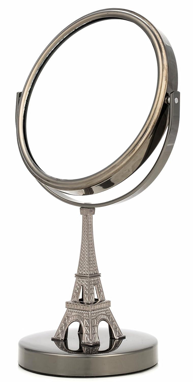 Danielle D6518GM Midi 5X Magnification Eiffel Tower Vanity Mirror, Gun Metal Upper Canada Soap