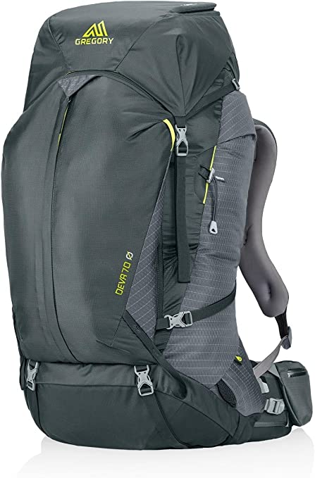 Rain Cover Camping Travel Durable Suspension Backpacking Gregory Mountain Products Deva 70 Liter Womens Multi Day Hiking Backpack Premium Comfort on the Trail 844930088550-P Hydration Sleeve /& Daypack