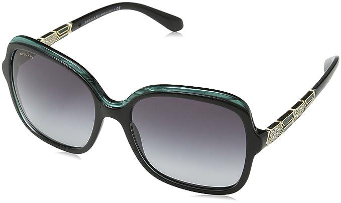 Bulgari 0Bv8181B 54178G 56 Gafas de sol, Negro (Green/Black ...