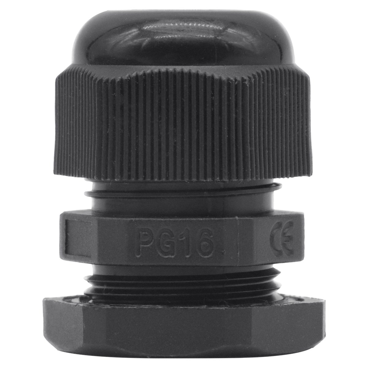 Lantee PG 16 Cable Gland - 20 Pieces Black Plastic Nylon Waterproof Wire Glands Connector Fitting by Lantee (Image #8)