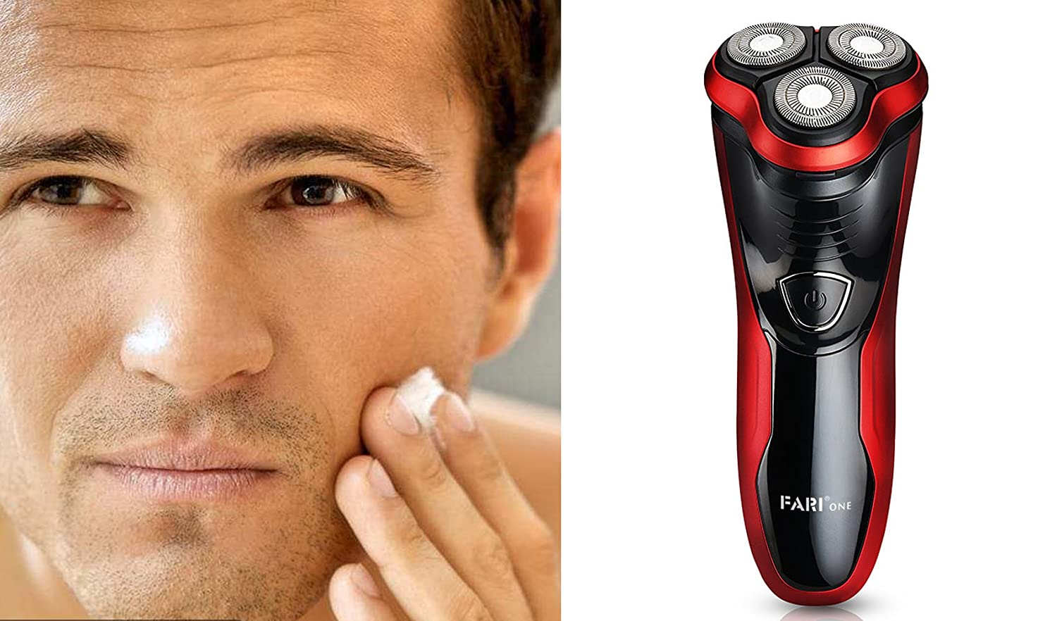 Men's Rotary Electric Razor with Pop-up Trimmer, Wet & Dry Rechargeable Electric Shaver