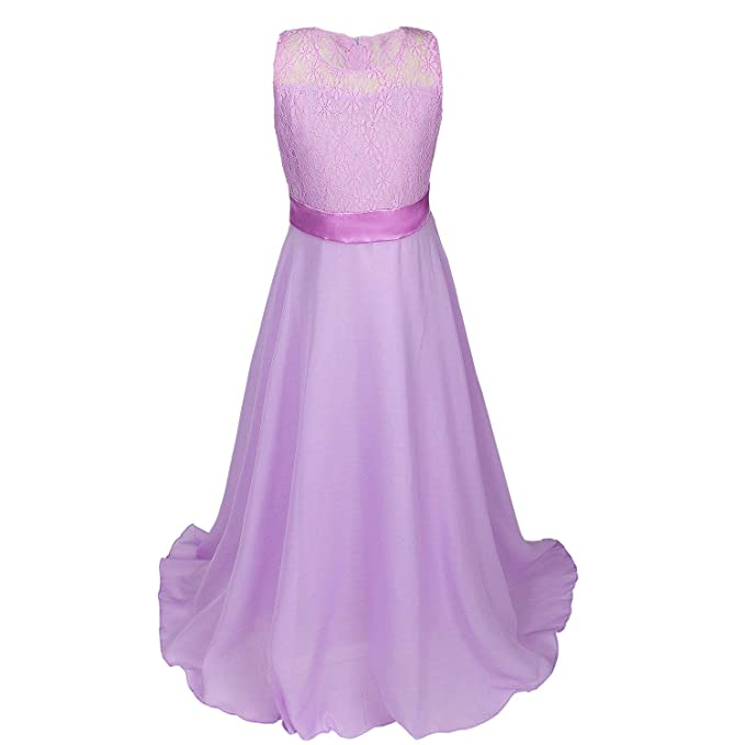 6cbb6ef2c Discoball Girls Lace Dress Chiffon Gown Dress Floor Length Dress ...