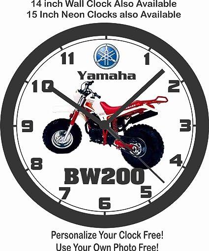 Yamaha bw200 motocicleta reloj de pared