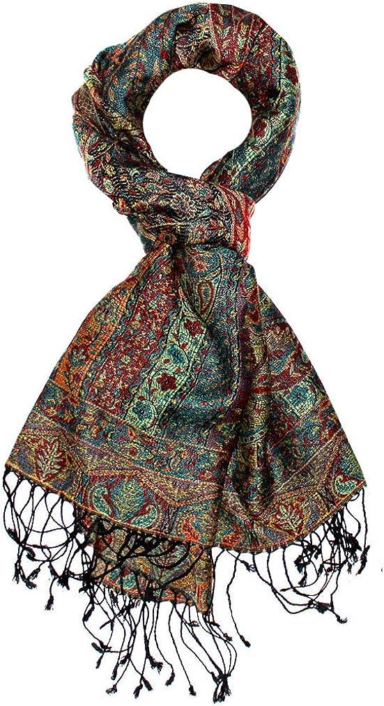 LORENZO CANA–Pashmina Bufanda–Pañuelo de de lujo de seda y lana 70x 190cm Paisley costura bufanda toalla estola Sobres tejida
