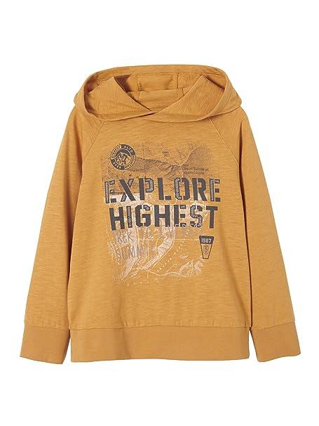71d81a093cf VERTBAUDET Camiseta niño con Capucha Naranja Medio Liso con Motivos 2-3  Anos