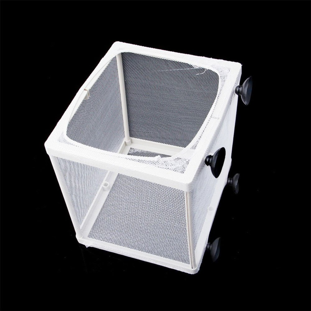 ETbotu Aquarium Fish Breeding Box Tank Fish Isolation Mesh Box Net Incubator Breeder for Fish Tank Aquarium Accessory