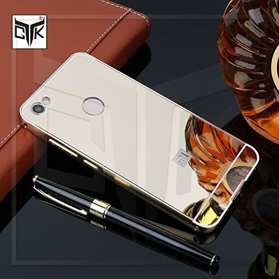 low priced 1e2cf e8367 TheGiftKart Redmi Y1 Back Case Cover: Electroplated Mirror Back Cover with  Metal Bumper (Golden)