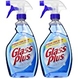 Glass Plus Glass Cleaner, 32 fl oz Bottle, Multi-Surface Glass Cleaner, 2 Pack