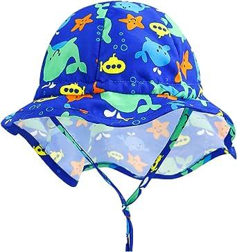 Mini eggs Baby Sun Hat UPF 50+ Sun Protection Baby Toddler Beach Hats for Baby Girl Boy Kids 0M-5T