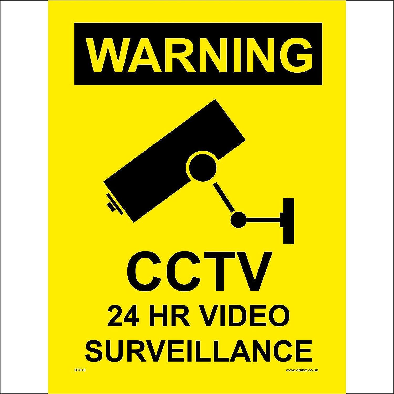 En aluminium 15*10cm 24 H Vidéo Surveillance Sécurité Signe CCTV Signe d/'avertissement