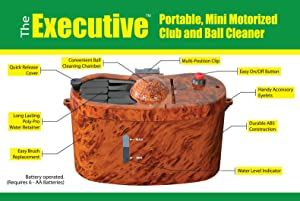 Club Clean The Executive Motorized Club and Ball Cleaner (Brown/Black)