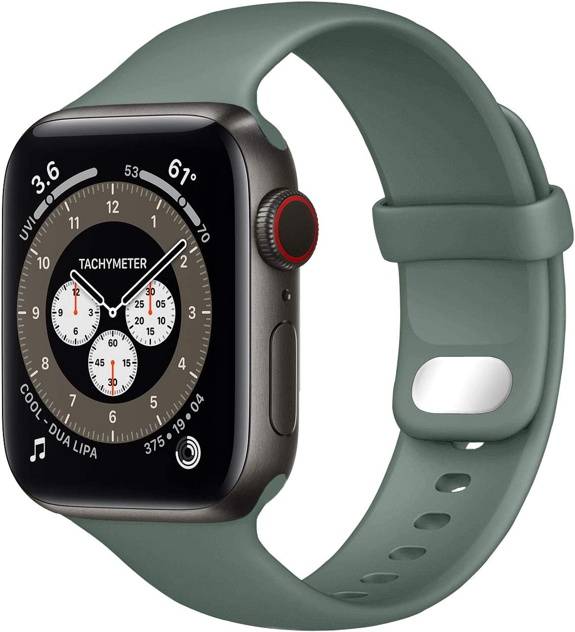 NUKELOLO Sport Band Compatible with Apple Watch Bands 44mm 42mm 40mm 38mm, Soft Silicone Replacement Strap Compatible for iWatch Series SE 6 5 4 3 2 1 Women Men